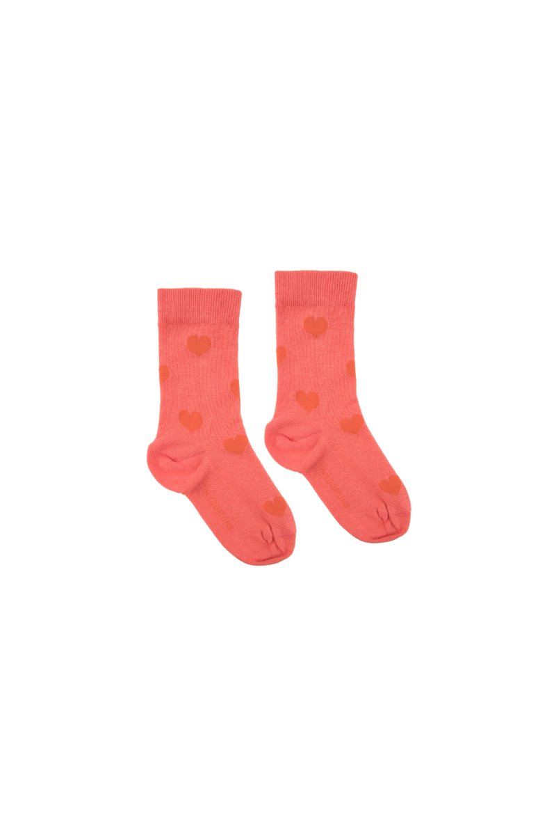 """HEARTS"" MEDIUM SOCKS   *light red/red*"