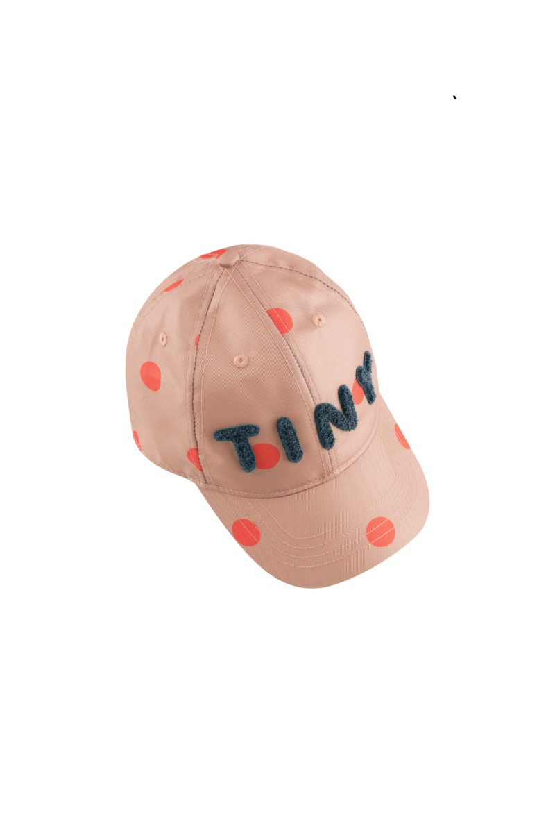 """BIG DOTS"" CAP/tan/red"