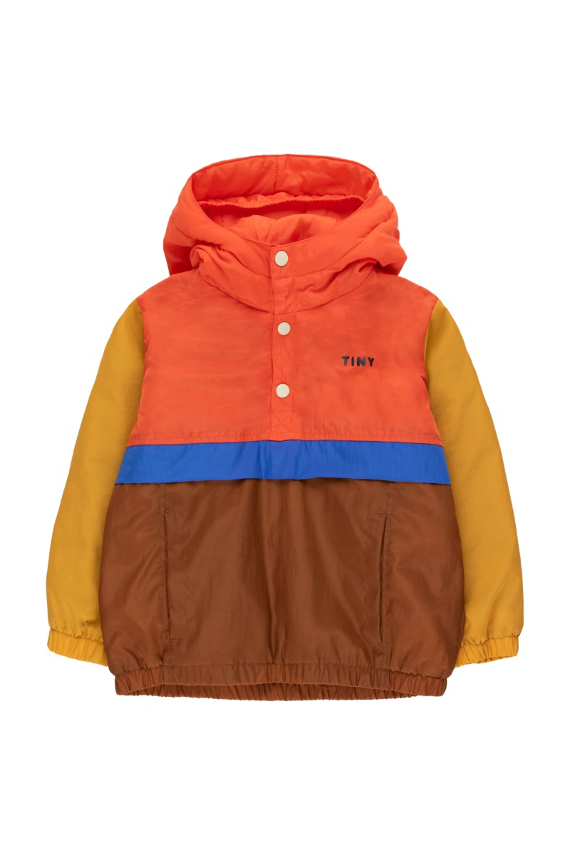 COLOR BLOCK PULLOVER/red/dark brown