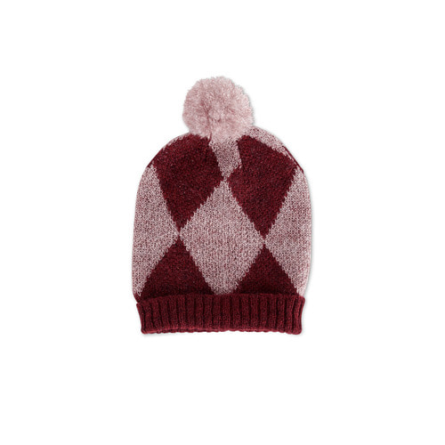 Hat [Misty pink/Winter cranberry]