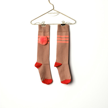 LONG SOCKS STRCIPOERSAL [CORAL]