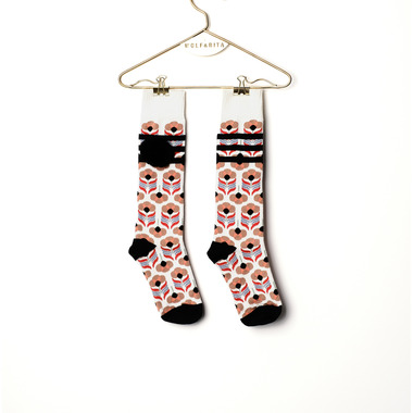 LONG SOCKS STRBIPLEASCK [BLACK]