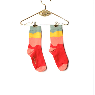 MINI SOCKS [YELLOW RED]