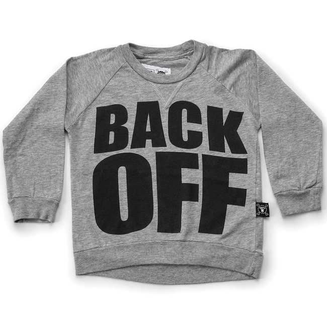 BACK OFF SHIRT S [HEATHER GREY]