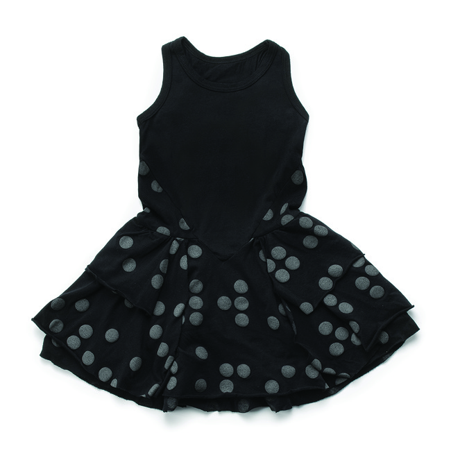 BRAILLE LAYERED DRESS S [BLACK]