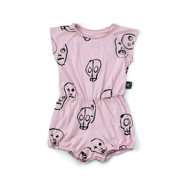 SKULL MASK YOGA OVERALL S [POWDER PINK]