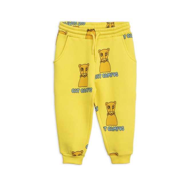 CAT CAMPUS SWEATPANTS [YELLOW]