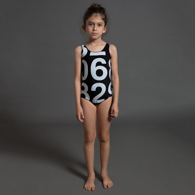 Nununu NUMBERED SWIMSUIT L [BLACK]