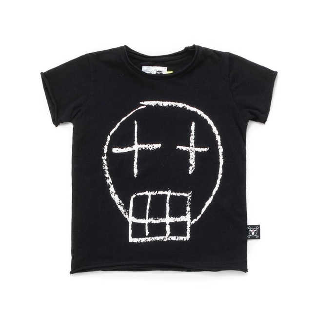 SKETCH SKULL T-SHIRT L [Black]
