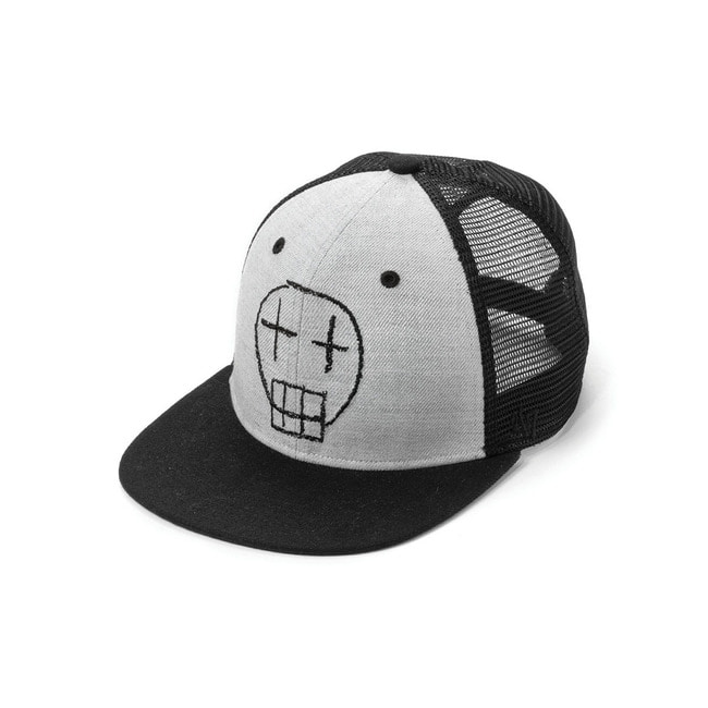 SKETCH SKULL BASEBALL CAP[Black]