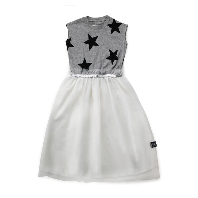 STAR TULLE DRESS S [Heather Grey]