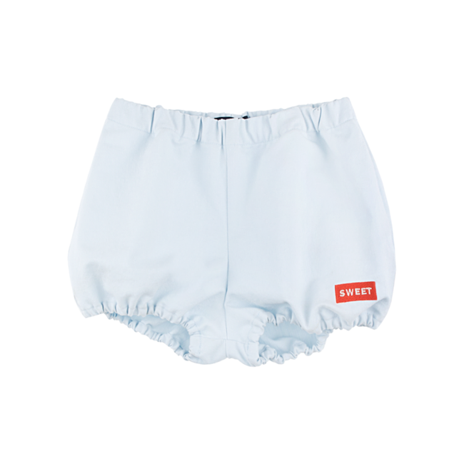 DENIM BALLOON SHORT  [LIGHT DENIM/RED]]