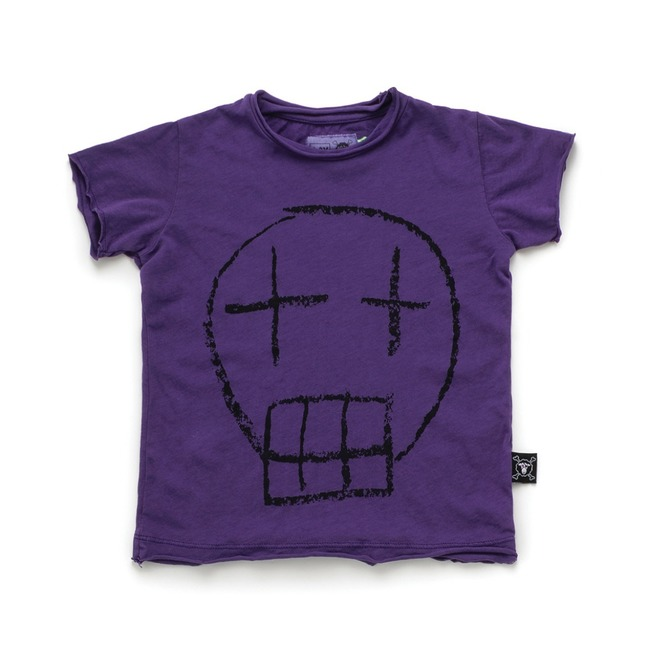 SKETCH SKULL T-SHIRT S [DEEP PURPLE]