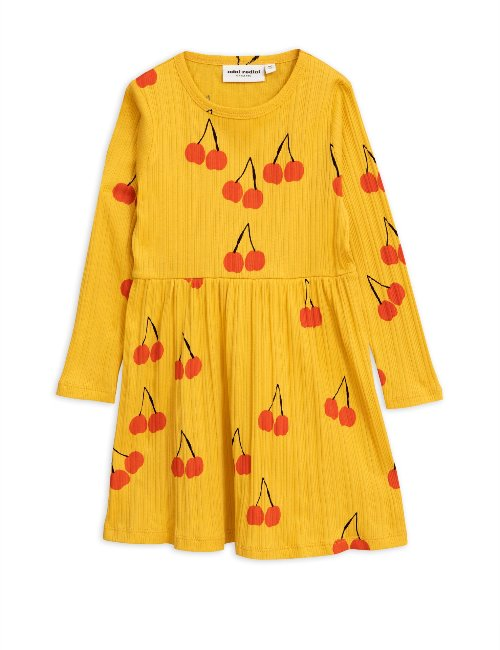 Cherry ls dress (Yellow)
