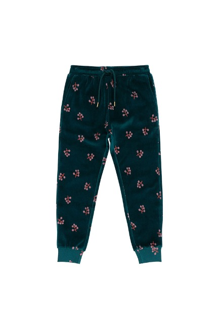 Charline Pants /Deep Teal, AOP C0 Winterberry