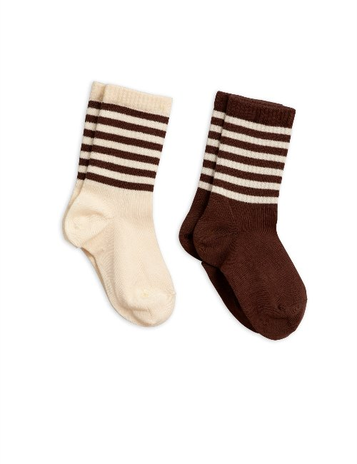 2-pack socks (brown)