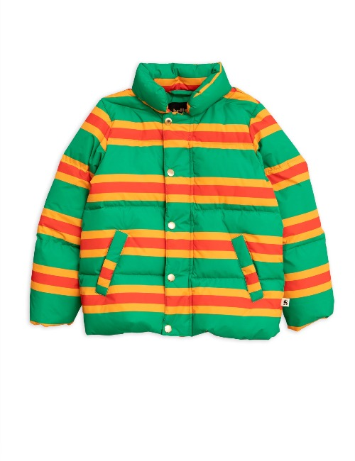 Stripe puffer jacket  Green