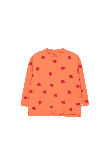 APPLES LS TEE( coral/burgundy)