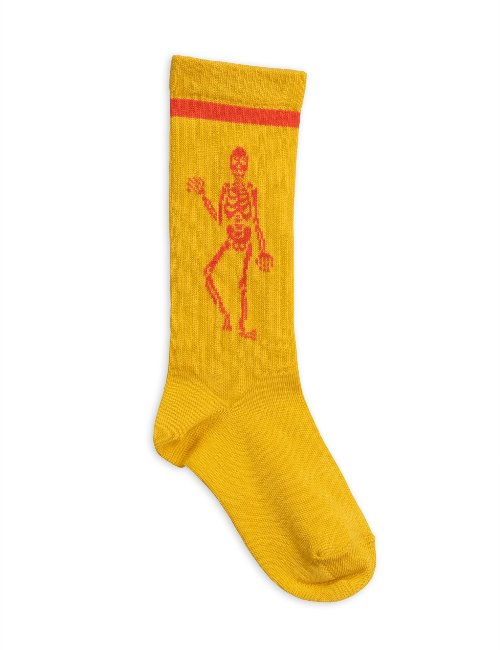 Skeleton knee sock(Yellow)
