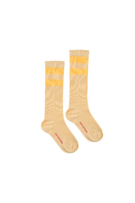 STRIPES HIGH SOCKS (sand/yellow)