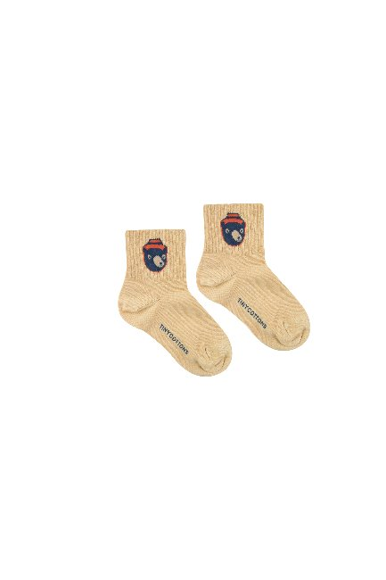 BEAR MEDIUM SOCKS(sand/true navy)