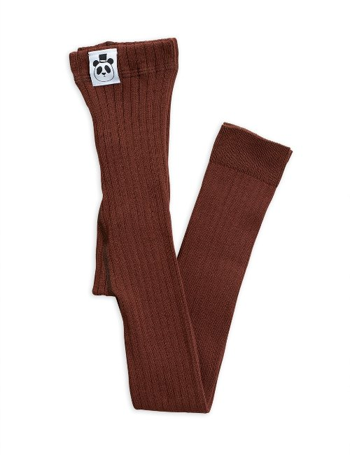 Ribbed leggings(brown)