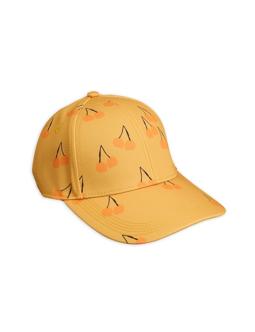 Cherry printed cap(Yellow)