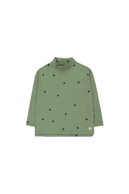 DOTS MOCKNECK TEE(green wood/bottle green)