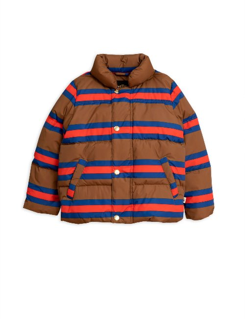 Stripe puffer jacket / BrownMR94