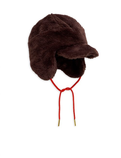 Faux fur cap( Brown)