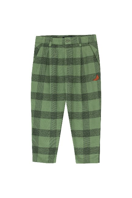 "CHECK ""SEAL"" PLEATED PANT"