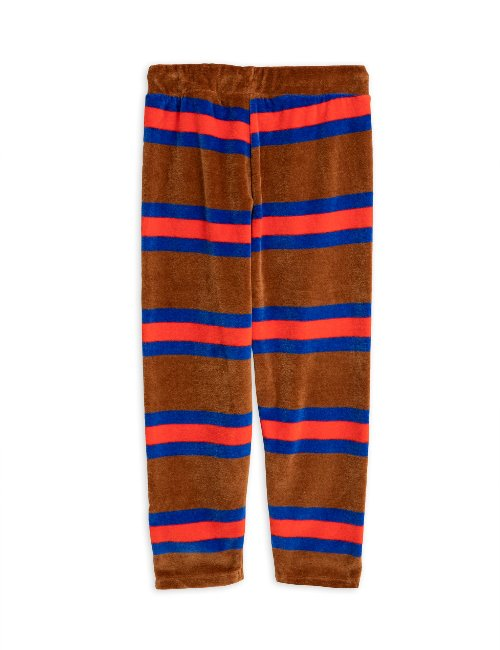 Velour stripe trousers/brown