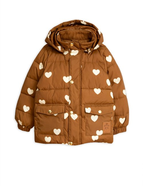 Hearts pico puffer Jacket / Brown