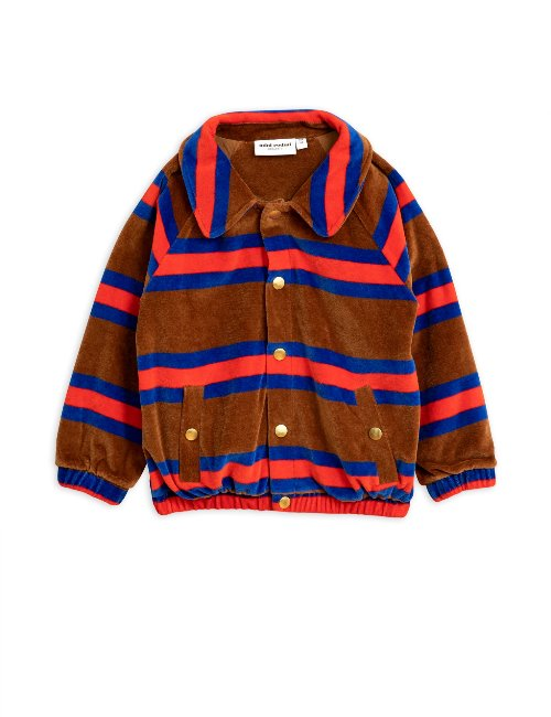 Velour stripe jacket/brown