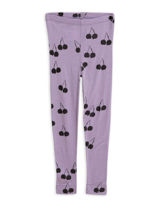 Cherry wool leggings(Purple)