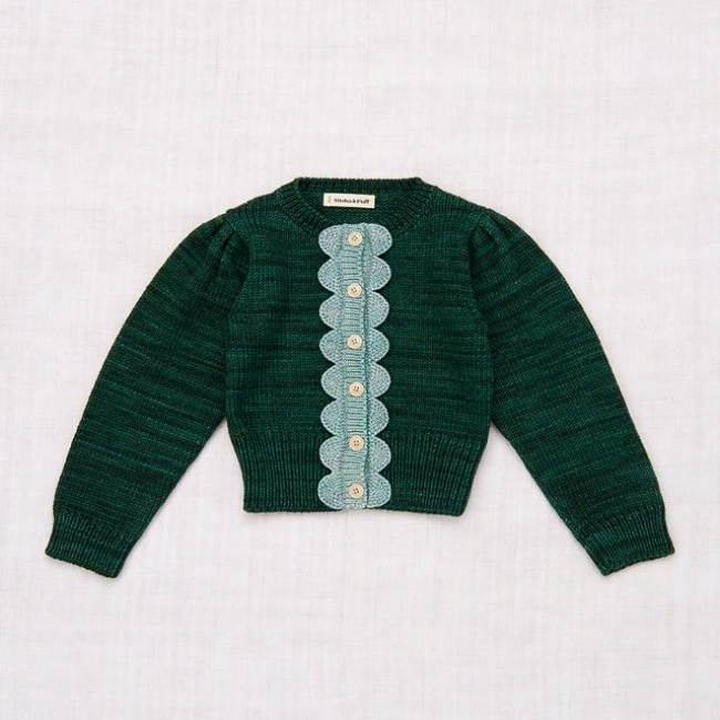 Scallop Cardigan /Laurel/Sage