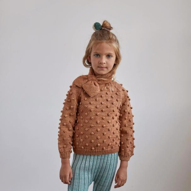 Popcorn Sweater /Rose Gold