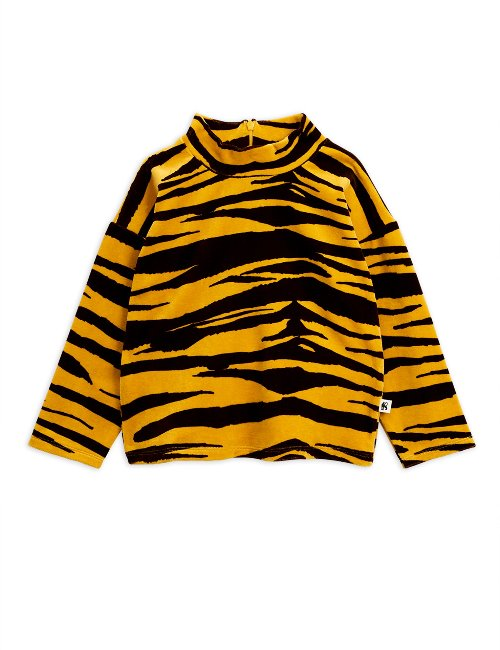 Tiger velour sweater Brown