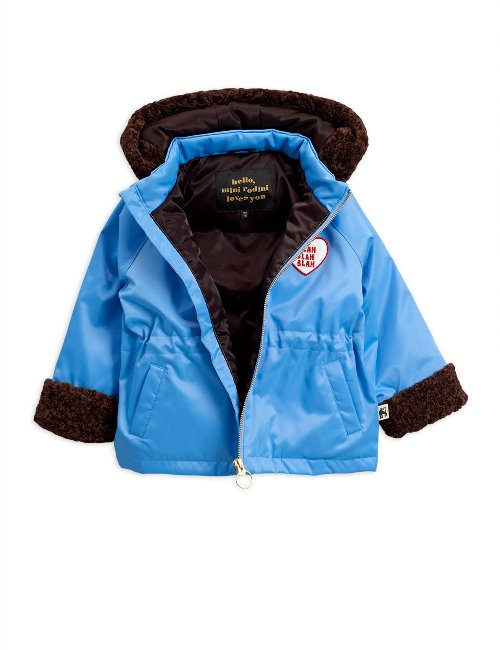 Faux fur parka  Light blue
