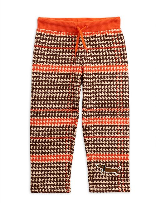 Houndstooth sweatpants Red