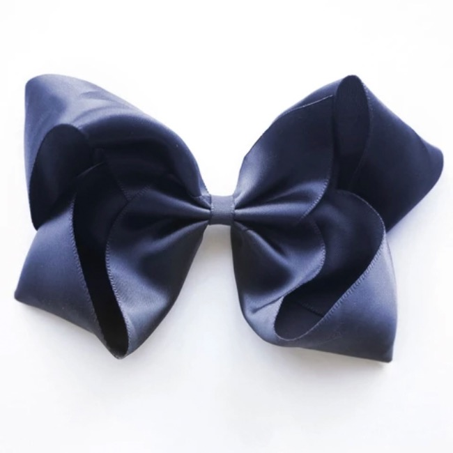 Large Peacoat Satin Hair Clip